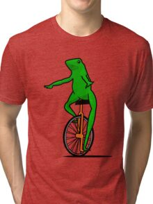 Dat Boi Unicycle Frog T-Shirt Tri-blend T-Shirt