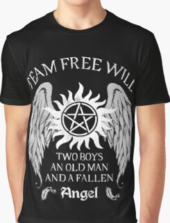 Two boys,an old man and a fallen angel Graphic T-Shirt