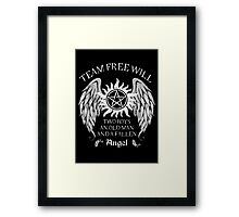 Two boys,an old man and a fallen angel Framed Print