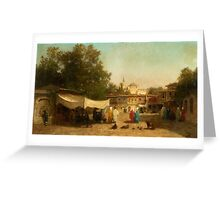 Germain-Fabius Brest, A View of Constantinopel (Istanbul) ,  Greeting Card