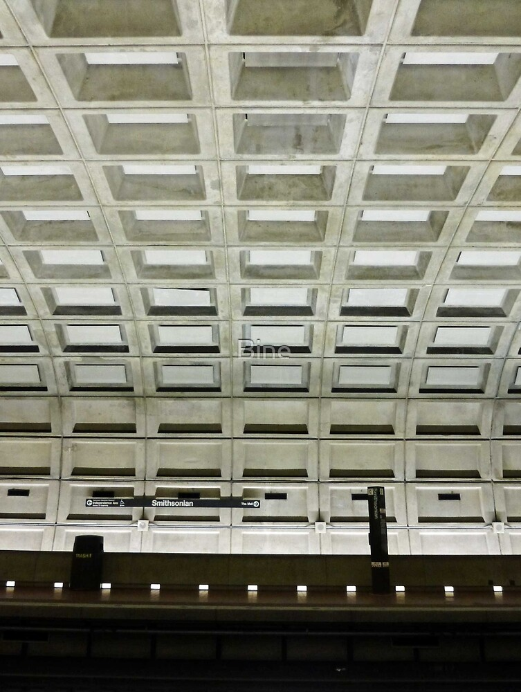 Underground Metro Station - Smithsonian, Washington D.C. by Bine