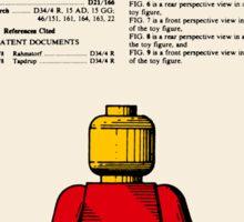 Lego Man Patent - Colour (v1) Sticker