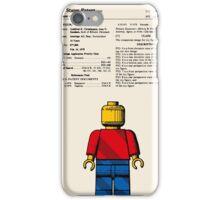 Lego Man Patent - Colour (v1) iPhone Case/Skin
