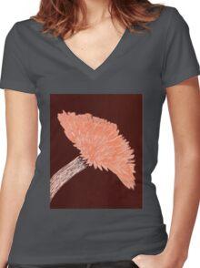 Flower of Orange Women's Fitted V-Neck T-Shirt