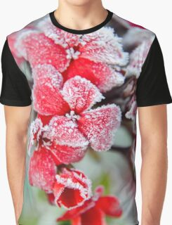 Frosted Red Geraniums Graphic T-Shirt