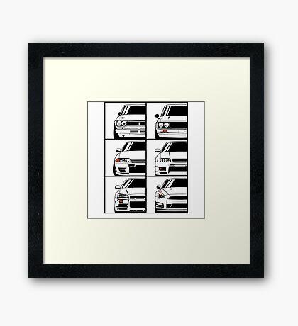 Nissan Skyline. Evolution Framed Print