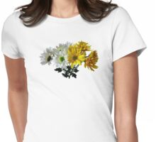 Bouquet of Yellow and White Daisies Womens Fitted T-Shirt