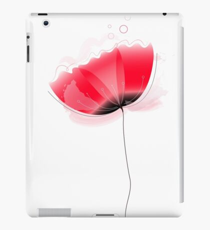 Cute beautiful abstract Poppy flower isolated on white iPad Case/Skin