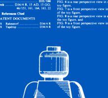 Lego Man Patent - Blueprint (v1) Sticker