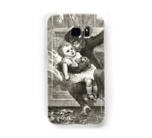 Monkey rescuing a child from a fire Samsung Galaxy Case/Skin