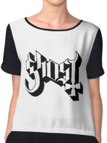 Ghost (Ghost BC) White/Black HD Logo Chiffon Top