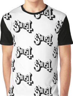Ghost (Ghost BC) White/Black HD Logo Graphic T-Shirt