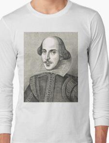 William Shakespeare The Bard of Avon Long Sleeve T-Shirt