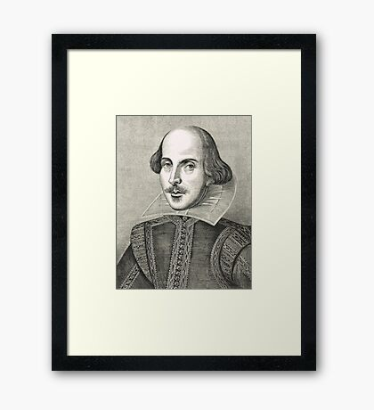 William Shakespeare The Bard of Avon Framed Print