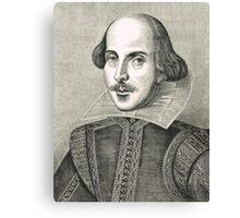 William Shakespeare The Bard of Avon Canvas Print