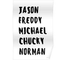 Favorite Horror Character Names Poster