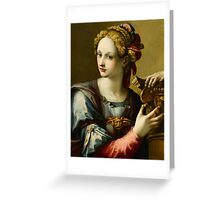 Michele Tosini(Florence ), An Allegory of Fortitude Greeting Card