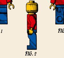 Lego Man Patent - Colour (v2) Sticker