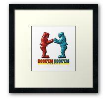 Rock'em Sock'em - 3D Variant Framed Print