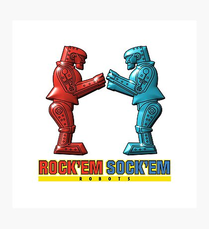 Rock'em Sock'em - 3D Variant Photographic Print