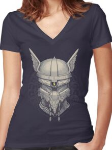Viking Robot Women's Fitted V-Neck T-Shirt