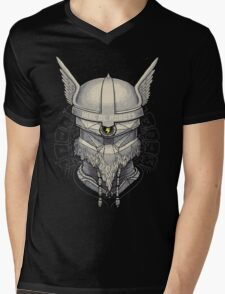 Viking Robot Mens V-Neck T-Shirt