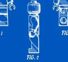 Lego Man Patent - Blueprint (v2) Sticker