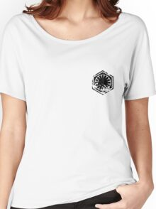 First Order - Black Women's Relaxed Fit T-Shirt