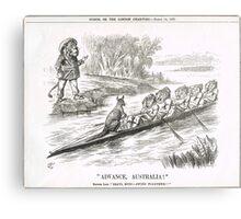 Advance Australia Punch Cartoon by John Tenniel 1891 Canvas Print