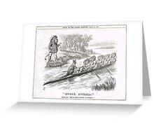 Advance Australia Punch Cartoon by John Tenniel 1891 Greeting Card