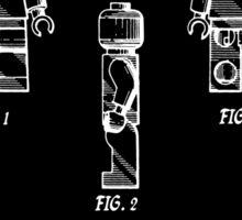 Lego Man Patent - Black (v2) Sticker