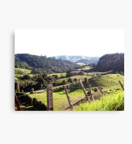 Green Rolling Hills Canvas Print