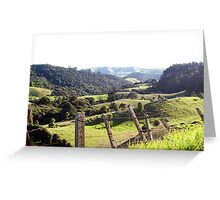 Green Rolling Hills Greeting Card