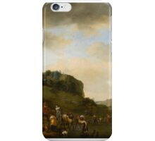 Philips Wouwerman (Haarlem ), Landscape with a Hawking Party Stopped by a River iPhone Case/Skin