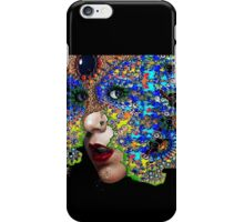 EPHEMERAL / WOMAN PORTRAIT WITH FRACTAL MASK iPhone Case/Skin