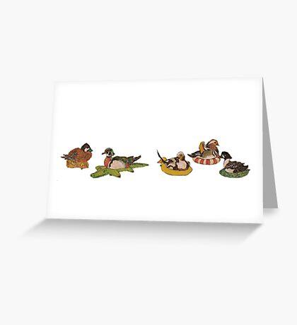 Lazy Ducks Greeting Card