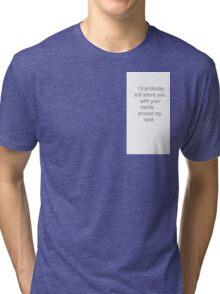 Arctic Monkeys 505 lyrics stitch Tri-blend T-Shirt