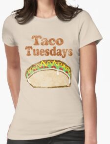 Vintage Taco Tuesday Womens Fitted T-Shirt