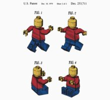 Lego Man Patent - Colour (v3) One Piece - Long Sleeve