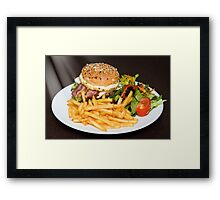 Bacon burger Framed Print
