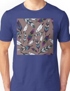 Colorful tribal feathers print. Vector illustration Unisex T-Shirt