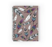 Colorful tribal feathers print. Vector illustration Spiral Notebook