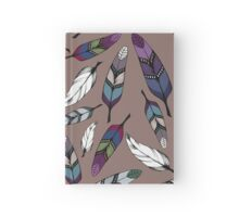 Colorful tribal feathers print. Vector illustration Hardcover Journal
