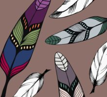 Colorful tribal feathers print. Vector illustration Sticker