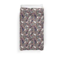 Colorful tribal feathers print. Vector illustration Duvet Cover