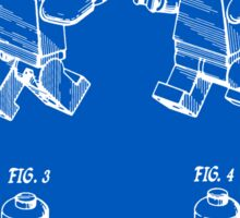 Lego Man Patent - Blueprint (v3) Sticker