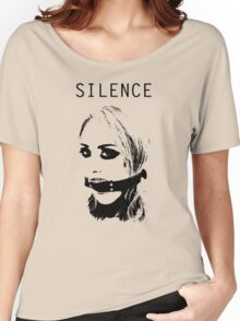 Silence, Mouth Gag. BDSM T-shirt Women's Relaxed Fit T-Shirt