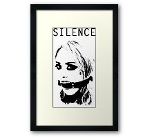 Silence, Mouth Gag. BDSM T-shirt Framed Print