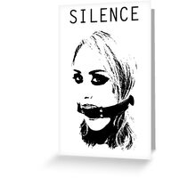 Silence, Mouth Gag. BDSM T-shirt Greeting Card