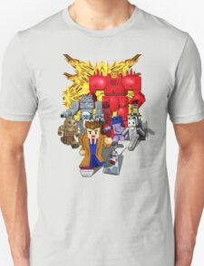 8bit world Time traveller vs Retro enemies Unisex T-Shirt